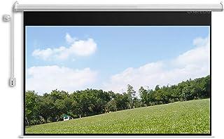 WOYZDN Projectiescherm 100 Inch 16: 9 Matte Witte Elektrische Gemotoriseerde Projectorscherm Met 12V-trigger Afstandsbedie...