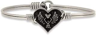 Angel Heart Bangle Bracelet for Women Made in USA