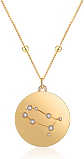 LILIE&WHITE Gold Zodiac Pendant Neckalce Constellation Jewelry for Women Gift