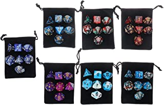 GENERIC 49PCS Polyhedral Dices Set compatible for Dungeons & Dragons Dice Desktop RPG Game