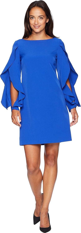 Vince Camuto Women's Ruffle Sleeve Shift Dress