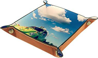 Yitian Leather Tray PU Leather Jewelry Catchall Beetle Classic Car