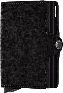 Secrid Twin Black Leather Wallet (Black Crisple)