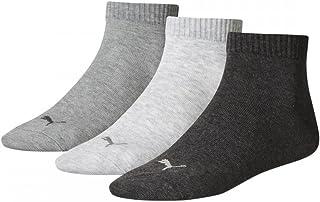 Puma Men's Length Quarter Sock (3 Pairs), Grey Mix-UK 6-8