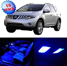 SCITOO LED Interior Lights 14pcs Blue Package Kit Accessories Replacement for 2009-2014 Nissan Murano
