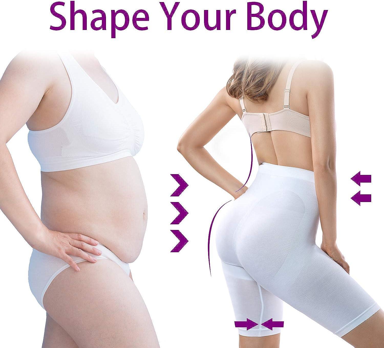 +MD Womens Thigh Slimmer Shapewear Breathable Tummy Control Panties Seamless High Waist Body Shaper
