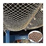 malla Cuerda de cáñamo, Neto de seguridad para niños Red de carga pesada, Cerca de mascotas Decoración de la barandilla al aire libre, Cuerda de juegos Cuerda de Roca Rock Tree House Malla red balcon