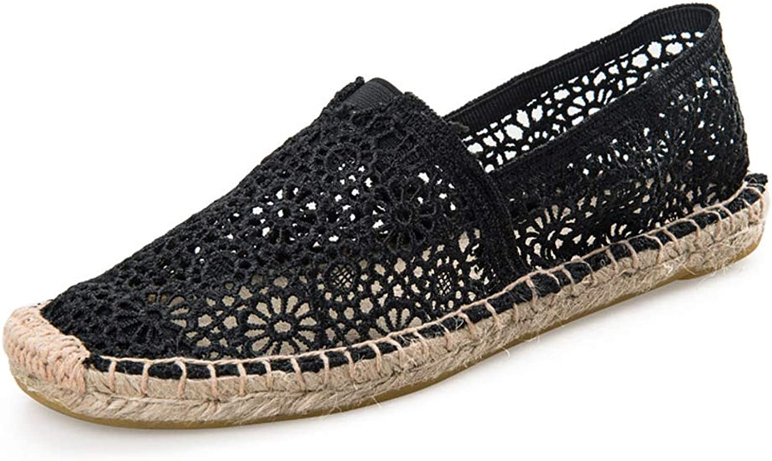 T-JULY Espadrilles Fishman shoes Summer Women Loafers Casual Lady Lace shoes Beige Elegant Woman Casual shoes Solid Embroider Flats
