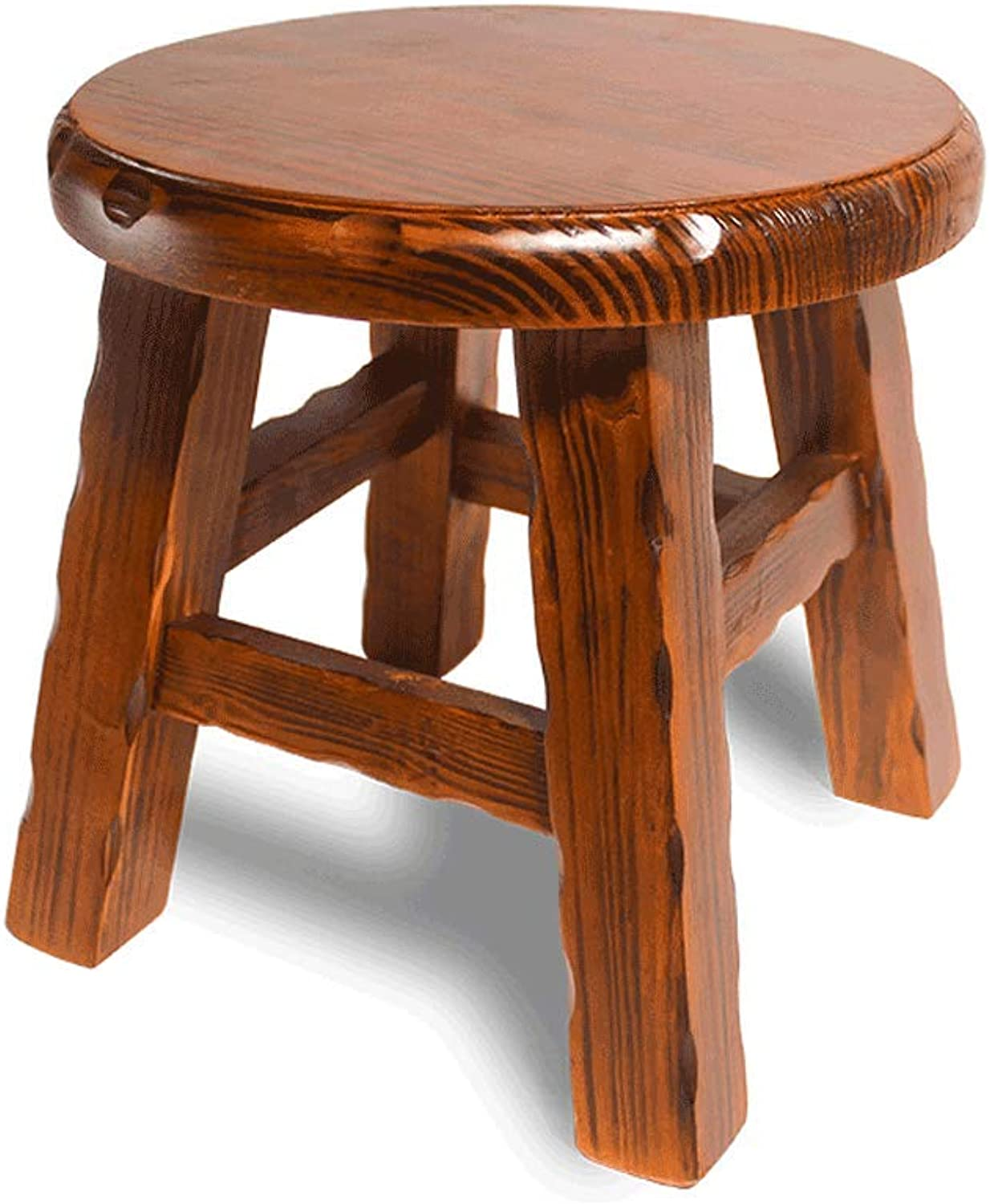 Round Solid Wood Stool, Sleek Minimalist Living Room Coffee Table Home Adult Replacement shoes Small Bench