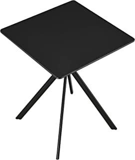 [en.casa] Table à Manger Salle à Manger Table de Cuisine pour 2 Personnes MDF et Métal revêtu par Poudre 60cm x 60cm x 75c...