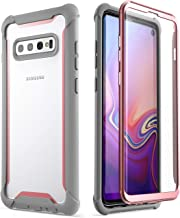 i-Blason Ares Series Designed for Samsung Galaxy S10 Case Full-Body Rugged Clear Bumper Case with Built-in Screen Protector for Galaxy S10 2019 [NOT Compatible with Fingerprint Sensor] (Pink)