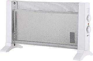 Grunkel - RMC-600 - Radiador de Mica Compacto con 2 Niveles de Potencia y protección antisobrecalentamiento - 600W - Blanco