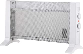 Grunkel - RMC-600 - Radiador de Mica Compacto con 2 Niveles de Potencia y protección antisobrecalentamiento - 600W - Blanco (600W)