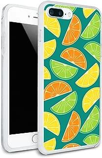 Citrus Lemon Lime Orange Slices Pattern Protective Slim Fit Hybrid Rubber Bumper Case Fits Apple iPhone 8, 8 Plus, X