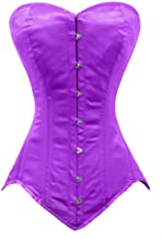 luvsecretlingerie Heavy Duty 26 Double Steel Boned Waist Training Satin Overbust Tight Shaper Corset #8151-OT-SA