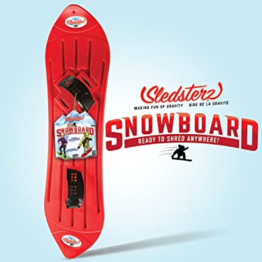 Geospace The Original Sledsterz Kids' Snowboard Assorted Colors, Snow Sled (Red, Purple, or Blue)