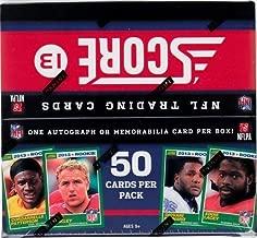 2013 Score JUMBO Football box (3 hits per box with at least 2 autographs)
