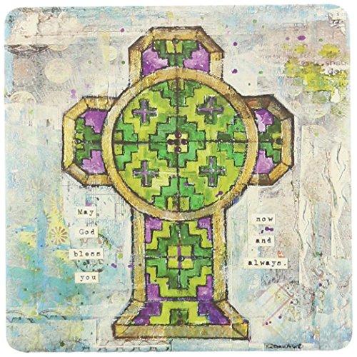 CoasterStone Absorbent Coasters, 4-1/4-Inch, 'Celtic Crosses II', Set of 4