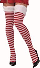 Forum Novelties Women's Christmas Thigh Highs with Fur Trim