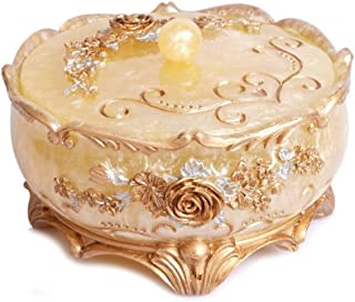 Ceramic Ashtray Decoration Fruit Coffee Table Living Room European Decorative Plate (Color : Beige)