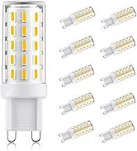 10 Pack G9 LED Bulbs, No Flicker, No Strobe, 3W, 400LM, Warm White, AC 110-240V, Energy Saving Light Bulbs