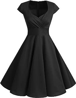 Bbonlinedress Women Short 1950s Retro Vintage Cocktail Party Swing Dresses