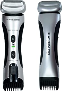 PLATINUM PRO by MANGROOMER – New Body Groomer, Ball Groomer and Body Trimmer with..