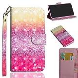 Ooboom LG Stylus 4/LG Stylo 4/LG Q Stylus Hülle 3D Flip PU Leder Schutzhülle Handy Tasche Hülle Cover Ständer mit Kartenfach Trageschlaufe für LG Stylus 4/LG Stylo 4/LG Q Stylus - Sand