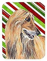 Caroline's Treasures Afghan Hound Candy Cane Holiday Christmas Mouse Pad/Hot Pad/Trivet (SC9498MP) [並行輸入品]