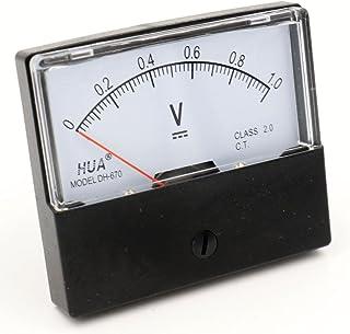 Baomain Voltmeter Dh-670 Dc 0-1V Rectangular Class 2.5 Analog Panel Volt Voltage Meter