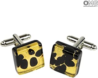 Cufflinks - black - Original Murano Glass OMG