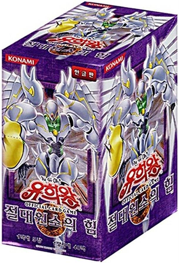 Yugioh Card Elemental Energy Booster half Box Packs Included v KOR 40 Gorgeous