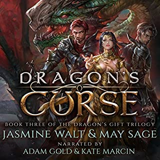 Dragon's Curse: a Reverse Harem Fantasy Romance     The Dragon's Gift Trilogy, Book 3              By:                                                                                                                                 Jasmine Walt,                                                                                        May Sage                               Narrated by:                                                                                                                                 Kate Marcin,                                                                                        Adam Gold                      Length: 8 hrs     4 ratings     Overall 4.5