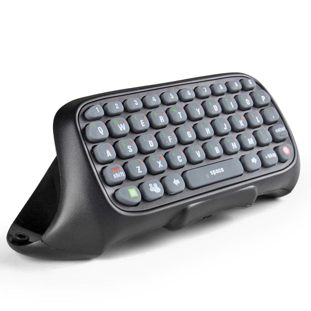 TNP Teclado para Mando Xbox 360, Chatpad inalámbrico para las mensajes de Live Messenger para Xbox 360 (Negro): Amazon.es: Videojuegos