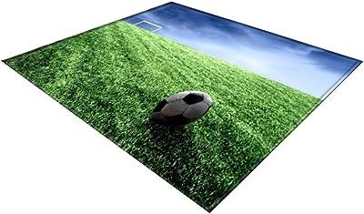 TOPBATHY Soccer Ball Doormat Non-Slip Bath Mat Floor Mat Entrance Door Mat Bedroom Floor Mat Front Door Area Rug for 2020 World Cup Living Room Bedroom Green 180x120cm