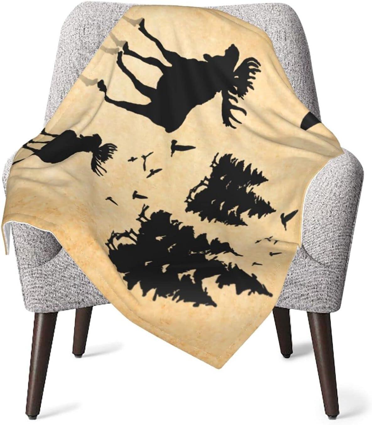 Vintage Animal Moose Al sold out. Limited Special Price Baby Blanket for Toddler Girls S Super Boys
