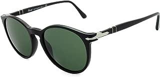 Persol PO3228S 95/31 Black PO3228S Round Sunglasses Lens Category 3 Size 53mm