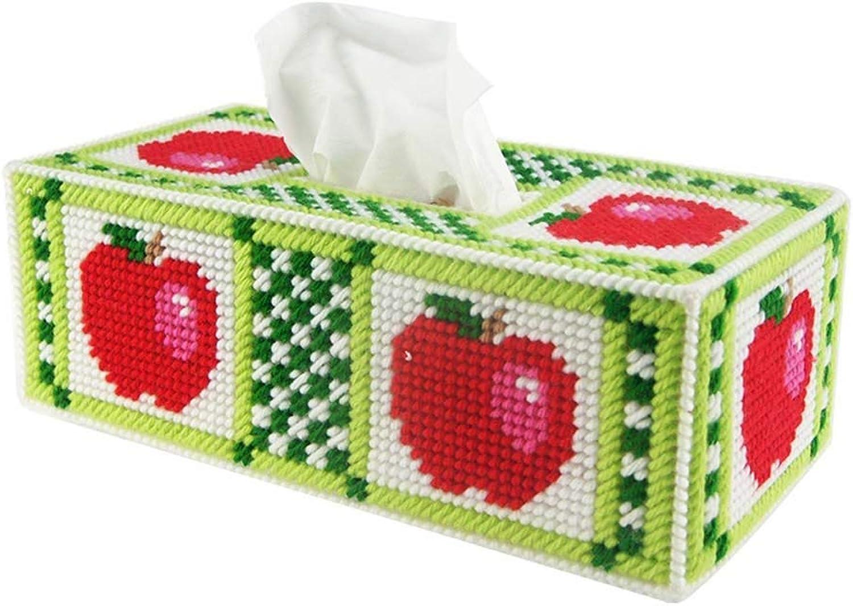 Towel Rack Tissue Holders DIY European Personalized Creative 3D Cross-Stitch Bedroom Living Room Tissue Box (Green) Bathroom Towel Shelf
