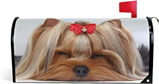 WOOR Cute Shih Tzu Dog Magnetic Mailbox Cover MailWraps Garden Yard Home Decor for Outside Oversized-25.5