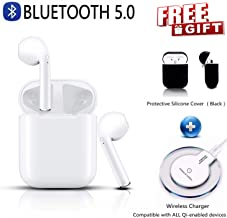 Wireless Earbuds Bluetooth 5.0 Headsets with Wireless Charging Box Running Headphones Hi-fi Sound Earbud Noise Cancelling in-Ear Built-in Mic Headset for iPhone Apple Airpods 2 Sport Earphones