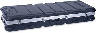 Crossrock 61 Key Keyboard Case Hard Molded with Wheels, Black (CRA861YKBK)