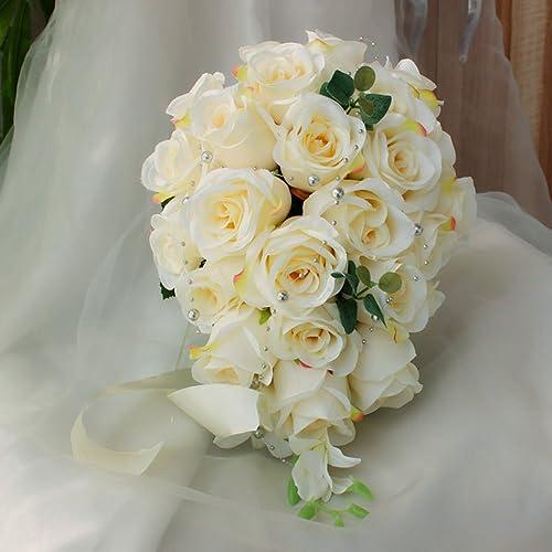Whole Foods Wedding Bouquet: Cascading Bridal Bouquet: Amazon.com