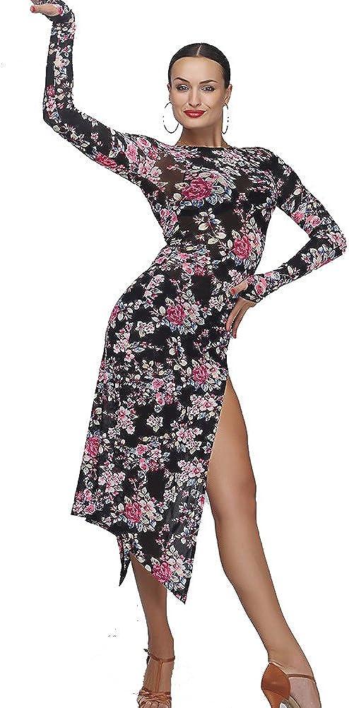 YILINFEIER Sexy Black Leopard Slim for 全国どこでも送料無料 Latin Tango Splicing 出荷 Wome