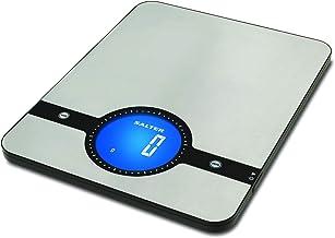 Salter Balance de Cuisine digitale grand écran Geo - Balance en acier inoxydable, écran LCD, compact, nettoyage facile - G...
