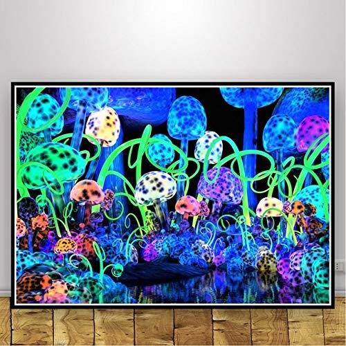 Puzzle 1000 piezas Cuadro moderno pintura de setas abstractas arte psicodélico estilo nórdico puzzle 1000 piezas animales Juego de habilidad para toda la familia, colorido juego de50x75cm(20x30inch)