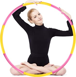 Hula Hoop 2.2 lb, Weighted Exercise Hula Hoop for Adults Kids, Adjustable 8 Detachable Sections Weight Loss Fitness Hula Hoop for Exercise Workout Dancing Soft Ruler