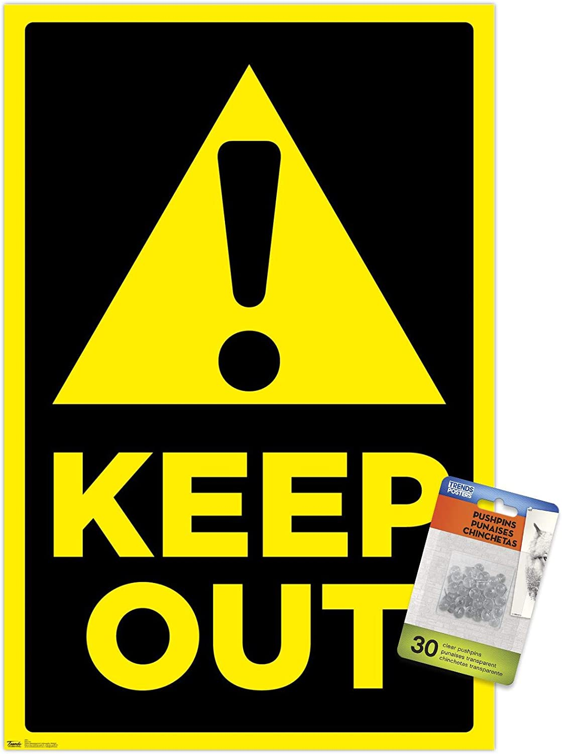 Keep Out Fashion Wall Poster with Push Direct stock discount Pins
