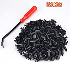 moveland 120 PCS 8mm ATV Fender Clips Push Body Rivets Fasteners Clamps for RZR Kawasaki Trx Honda Suzuki and More - Include Plastic Fastener Removal Tool