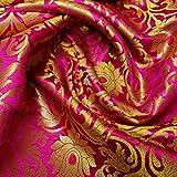 Textile Station Indischer Banarsi-Brokatstoff, florales