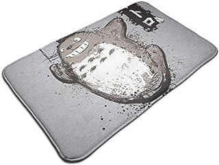 HUTTGIGH Totoro Flying With My Neighbor - Alfombrilla antideslizante para baño de cocina (19,5 x 31,5 pulgadas)